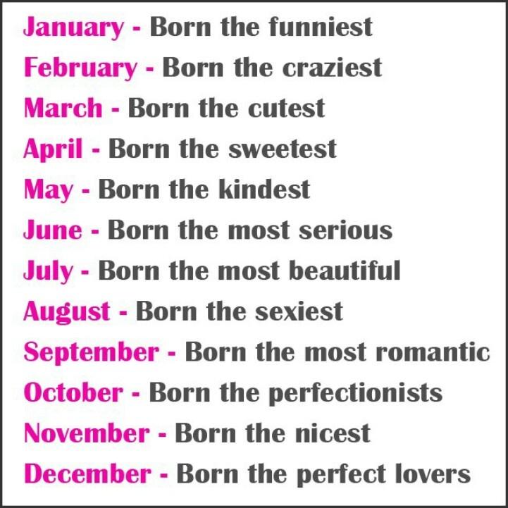 Birth Month Birth month stones & flowers Crazy girl