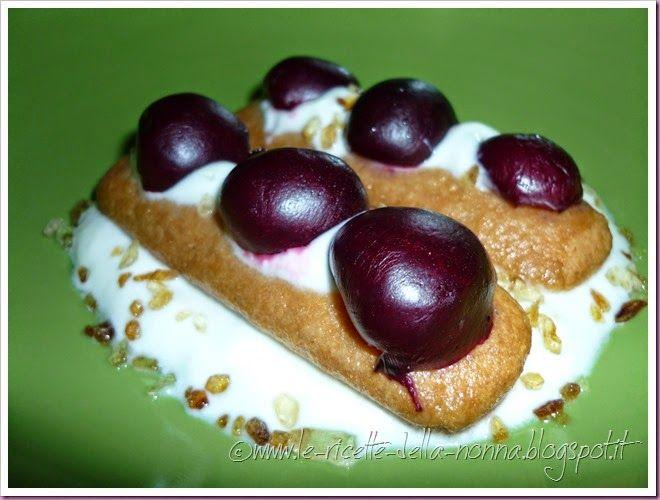 Le Ricette della Nonna: Dessert con yogurt, amarene e cacao