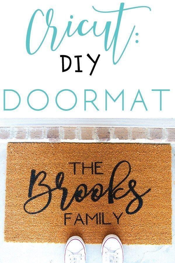 Cricut Diy Doormat In 2020 Door Mat Vinyl Gifts Diy Cricut
