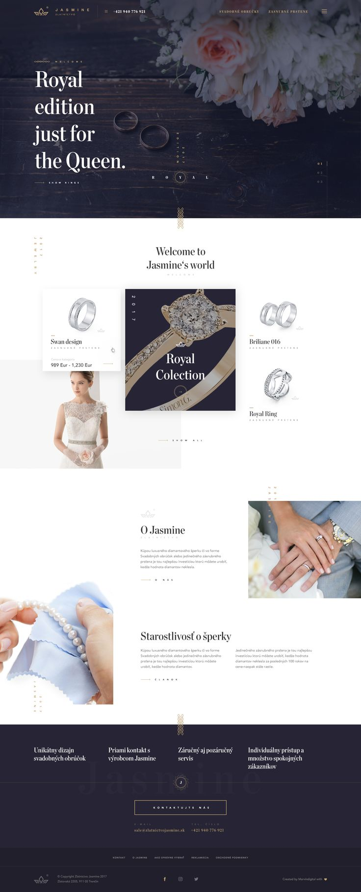 """Check out this @Behance project: """"Jasmine Jewelry"""" https://www.behance.net/gallery/46553989/Jasmine-Jewelry"""