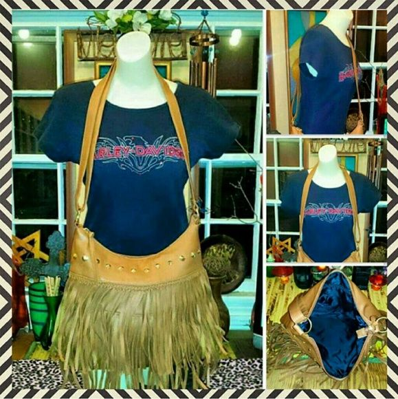 BONGO MEGA FRINGE boho HIPPIE GYPSY cowgirl PURSE this is 1 FABULOUSLY MEGA FRINGE purse from BONGO & its NEVER EVER been used or worn (just doesn't have its tags anymore)...its LARGE SIZED & WAAAY COOL & FUN!!! BONGO Bags