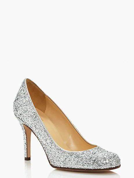 we've outfitted our classic karolina pumps in flirty glitter, sure to inspire a smile whenever you slip them on your feet