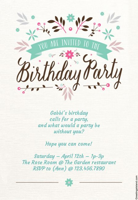 15 Free Printable Children's Birthday Party Invitations | Celebrations | Smartparenting.com.ph
