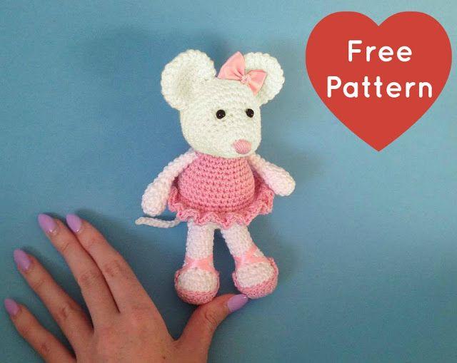 Make It: Ballerina Mouse - Free Crochet Pattern #crochet #amigurumi #free #ravelry thanks so for share xox ☆ ★ https://www.pinterest.com/peacefuldoves/