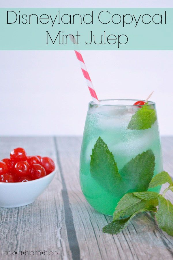 One of my favorite things to get when we visit Disneyland is a mint julep. Make your own with three simple ingredients.