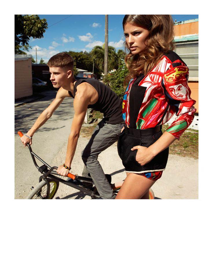 Shooting di Greg Kadel x Vogue Spagna di Aprile 2012. Una giornata in periferia con Cameron Russell.