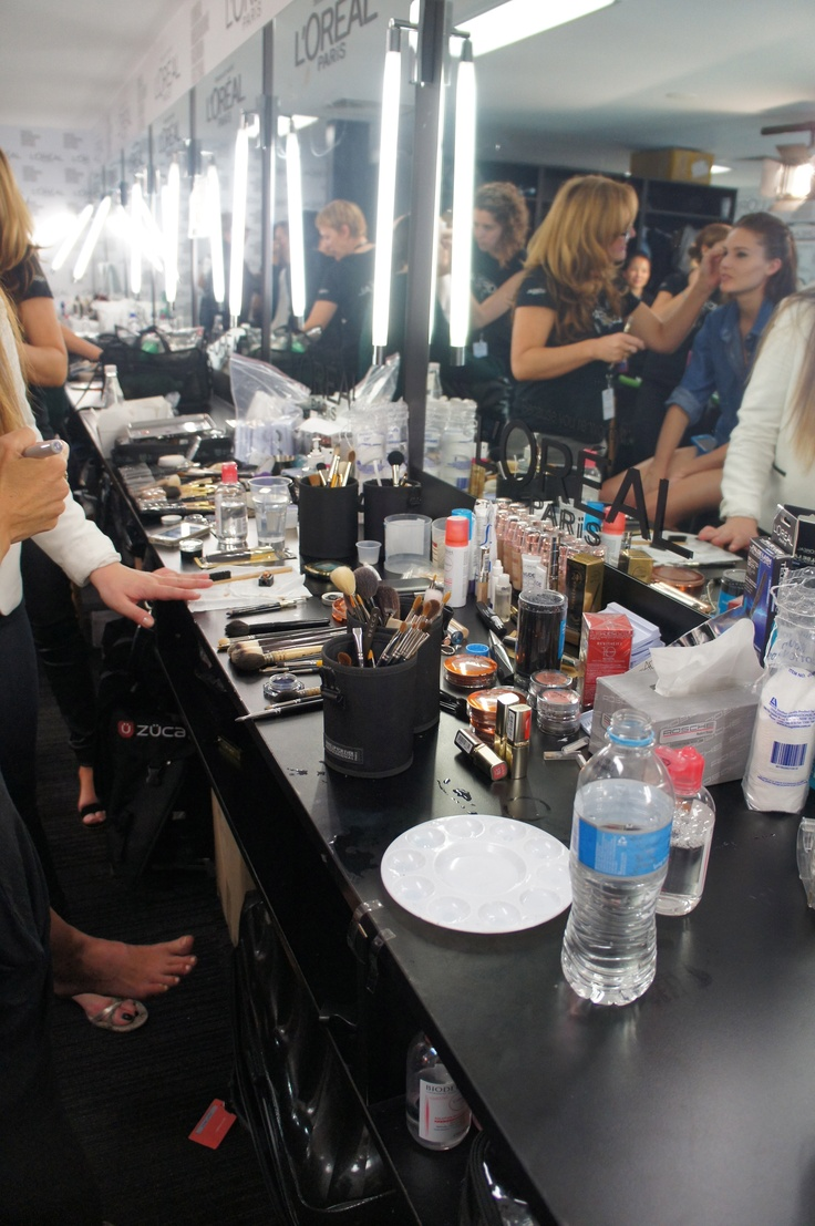 Hair and Makeup backstage at LMFF