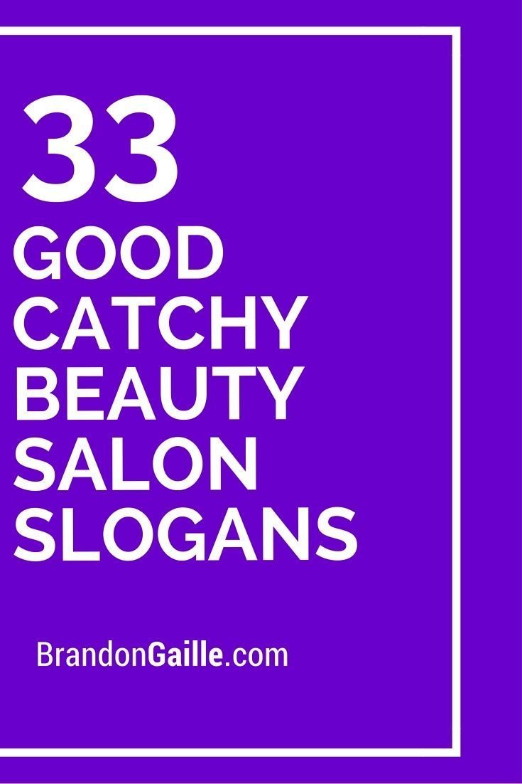 18 Good Catchy Beauty Salon Slogans  Beauty salon names, Salon