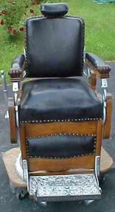 Koken Barber Chair, BRASS LANTERN ANTIQUES