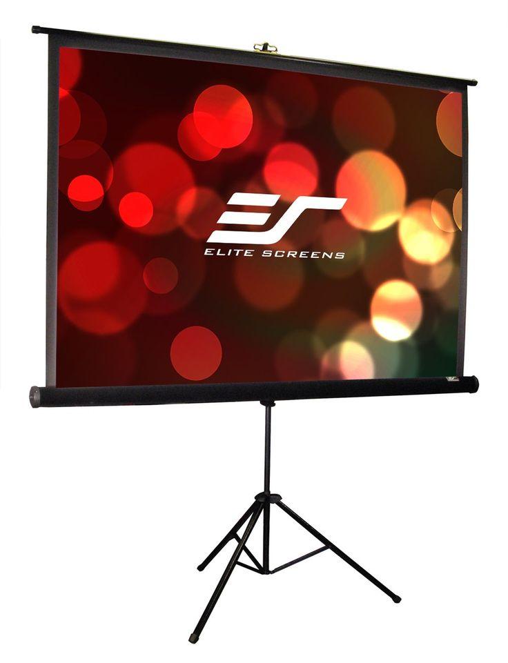 Elite Screens Tripod Pro, 119-inch, Professional Multi Aspect Ratio Portable Projection Projector Screen, T119UWS1-PRO