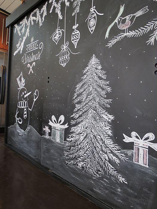 Chalkboard Christmas Tree - agoodehouse.com