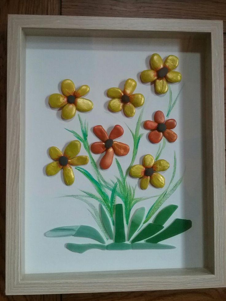 шаблон для открытки букет в вазе из тыквенных семечек