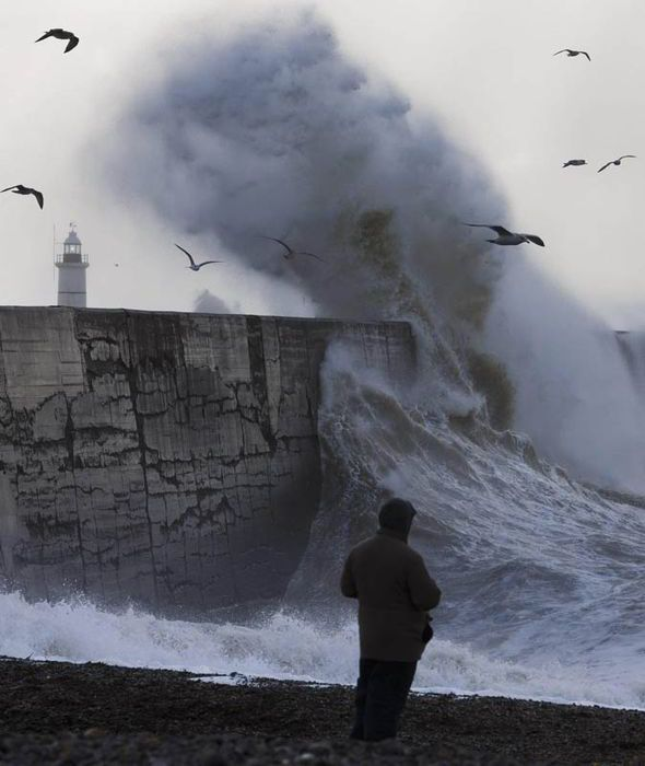 UK: VIOLENT storms are set to leave a trail of destruction this weekend with torrential rain and ferocious gales bringing more misery. Forecasters have warned the downpours will lash swathes of the South [PA]