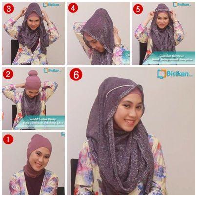 Tutorial Hijab untuk Pesta #2 / Hijab Tutorial for Party ...
