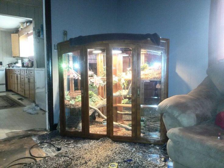 Diy reptile enclosure   curio cabinet reptile enclosure ...