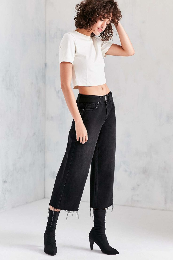 BDG Flood Cut-Off High-Rise Ankle Jean - Urban Outfitters