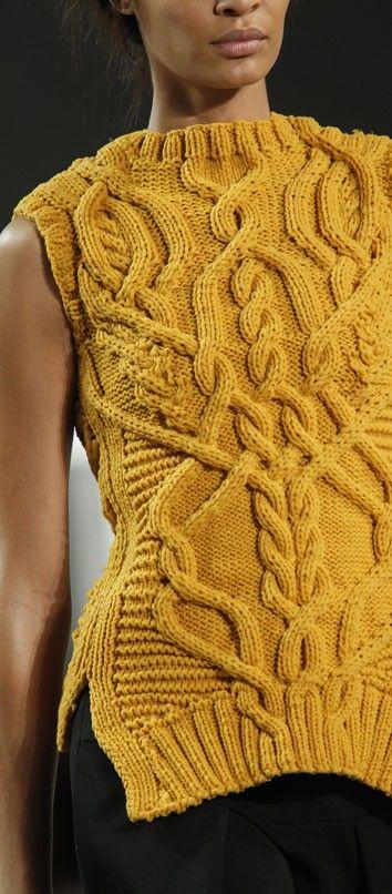 О моде: Вязаные безрукавки от Derek Lam | Вяжем с Лана Ви