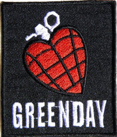 GREEN DAY HEART GRENADE Heavy Metal Rock Punk Music Band Logo Polo T shirt Patch Sew Iron on Embroidered Badge Sign Costum: Amazon.co.uk