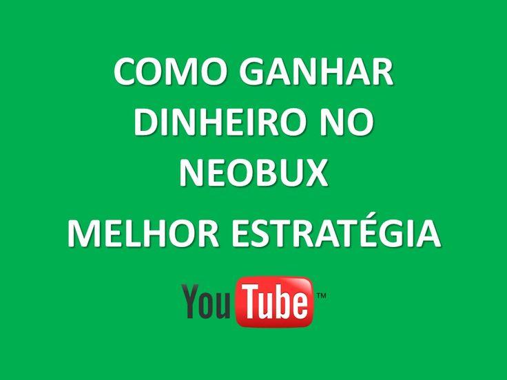 Ganhe dinheiro clicando em anúncios no Neobux - Melhor Estratégia para Ganhar Dinheiro na internet em se tratando de site ptc.  Se você gostou no vídeo Neobux - Melhor Estratégia para Ganhar Dinheiro compartilhe. CADASTRE-SE NO LINK ABAIXO DO VÍDEO