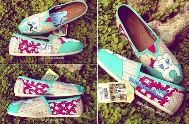 Teeth toms!  Is there a profession you would like to see a shoe design for?   www.etsy.com/shop/myhearttoyoursole