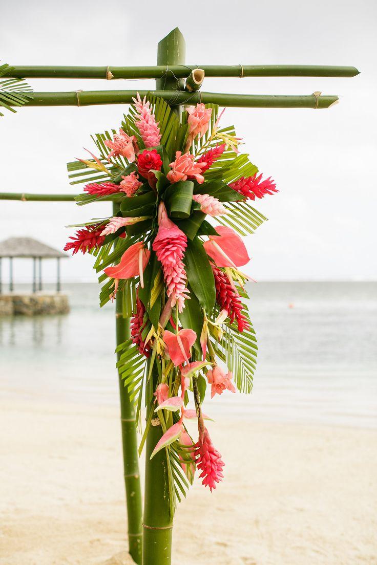I was Married in Fiji | Fiji Weddings | Destination Weddings | Tropical Flower Arrangements | Leanne and Bradley | Warwick Fiji | Cheer Wedding Photography