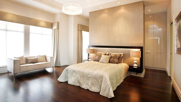 The master bedroom of the Pavilion has a stylish dressing room and ensuite with a view...