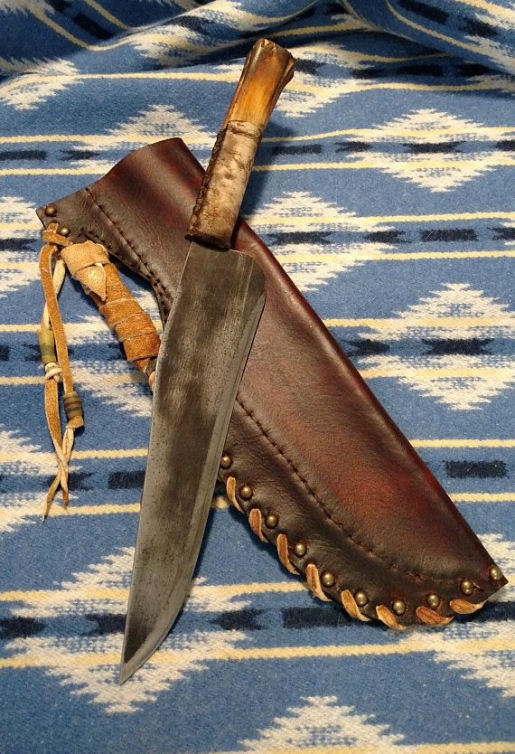 RESERVED for MQK510 Large Mountain Man Primitive Knife in Native
