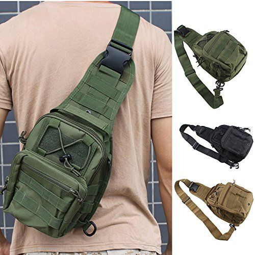 FAMI Outdoor Tactical Shoulder Backpack, Military & Sport Bag Pack Daypack for Camping, Hiking, Trekking, Rover Sling - Army Green - http://backpackingandcampingessentials.com/camping-gear/fami-outdoor-tactical-shoulder-backpack-military-sport-bag-pack-daypack-for-camping-hiking-trekking-rover-sling-army-green/
