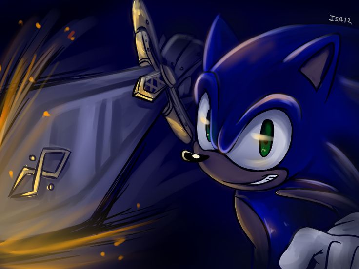 Sonic The Hedgehog And Caliburn Black Knight