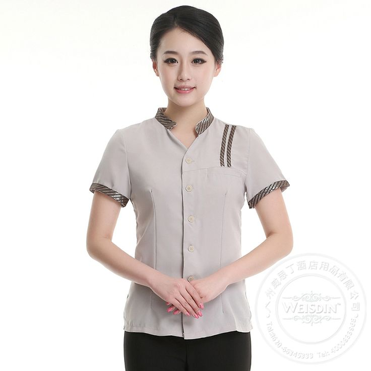 high quality slim cut hotel uniform housekeeping/cleaning / service staff uniform.http://www.weisdin.com