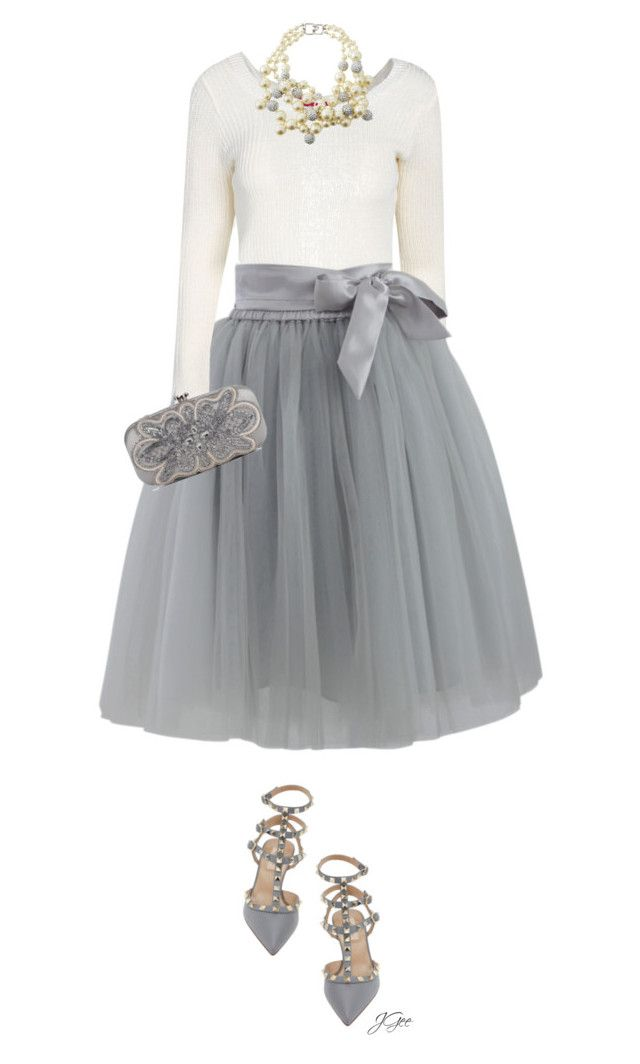 Party Girl by jgee67 on Polyvore featuring polyvore, fashion, style, Boohoo, Chicwish, Valentino, Oscar de la Renta and Kenneth Jay Lane
