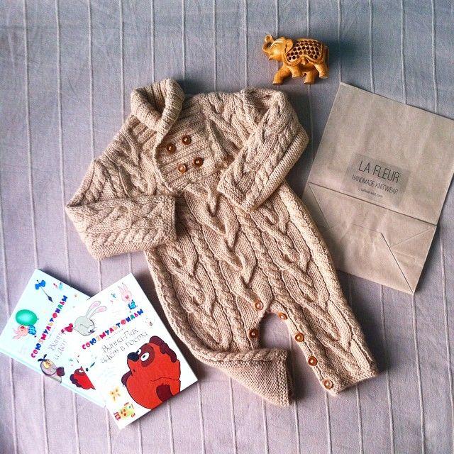 333 отметок «Нравится», 61 комментариев — Anna LA FLEUR knitwear 🐑 (@lafleur_knit) в Instagram: «Довязала комбинезон по мотивам бренда Gap из 100% бэби альпаки для малышки Даниелы.🎀💞 Он уже…»