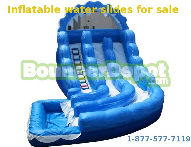 bouncer depot have a wide selection of inflatable water slides and provide you package deals - Blow Up Water Slides
