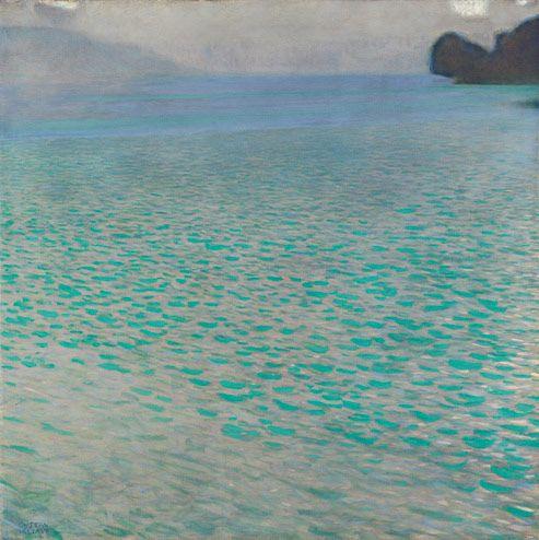 Gustav Klimt, Attersee, 1910Atterse 1910, 1910 Atterse, 1910 Klimt, Gustavo Klimt, Gustav Klimt 1910, Pretty Water, Fondation Beyeler, Klimt Austrian, 1910 Kimt