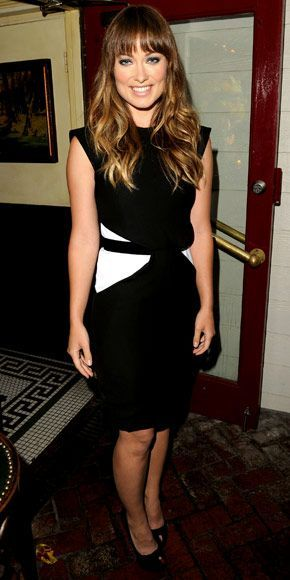 Olivia Wilde Black And White Dress Sergio Rossi Pinterest