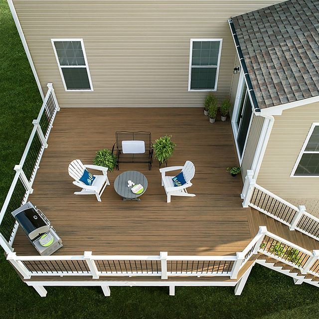 Fresh Air Meets Fresh Color Our New Tawny Hue Toasted Sand Outdoorliving Deckdesign Trexdecking Trexenhance T Trex Enhance Deck Design Composite Decking