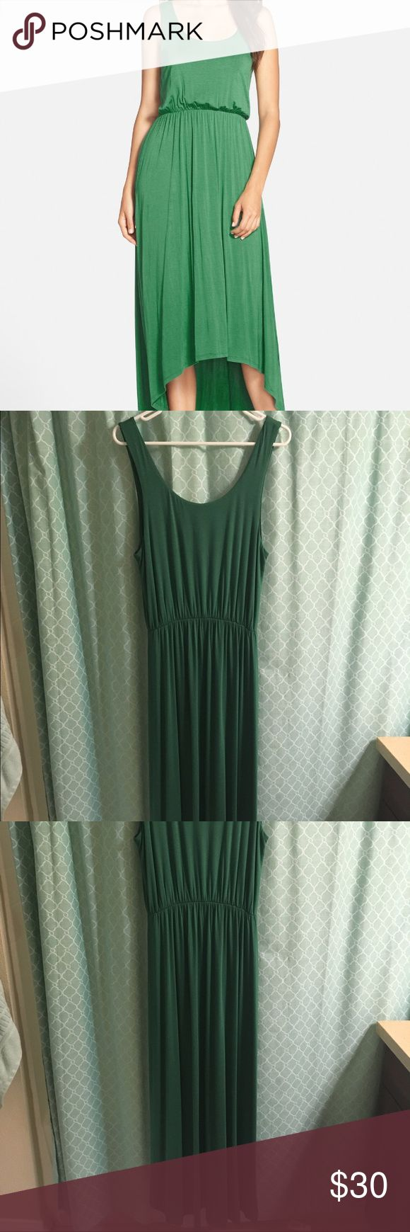 """Felicity & Coco Dress (Nordstrom Exclusive) High/Low hem jersey tank dress. Comfortable elasticized waistband and high/low hemline define the casual-chic silouette of this soft jersey tank dress. 42"""" front length; 52 inch back length. Size medium. Excellent condition. Kelly green color. Perfect dress for summer! Felicity and Coco Dresses High Low"""