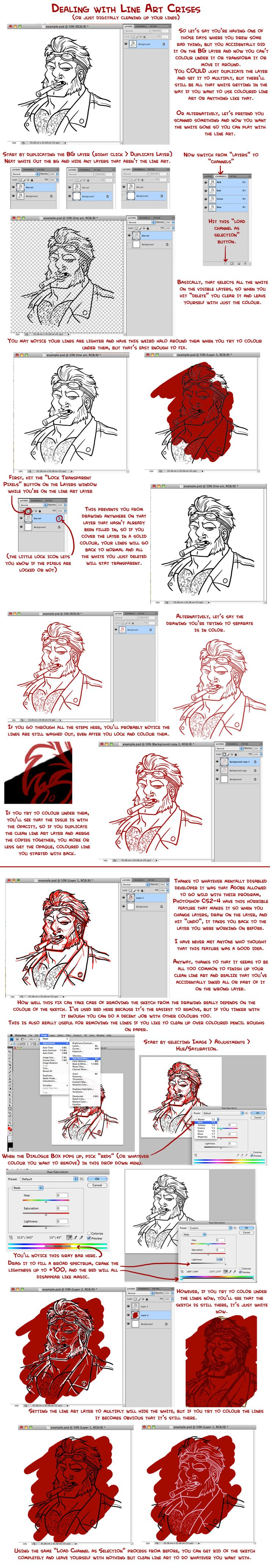 Cleaning up Line Art in PSD by The Punchline is Machismo
