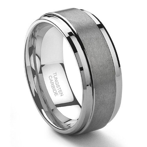 9MM Tungsten Carbide Men's Wedding Band Ring in Comfort Fit and Matte Finish Size 7-13.5 $9.99