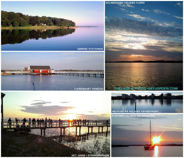 Collage with photos from Isefjord and Holbaek fjord - Zealand Denmark. http://isefjorden.com/