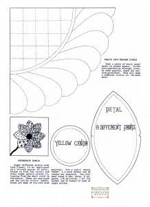 Dahlia Applique Quilting Pattern: Quilts Patterns, Flower Applique Patterns, Quilting Patterns, Vintage Patterns, Flower Appliques Patterns