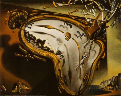 オールポスターズの サルバドール・ダリ「柔らかい時計」高品質プリント