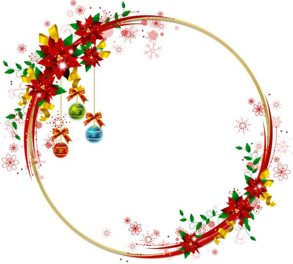 Christmas Transparent Png Borders And Frames Round