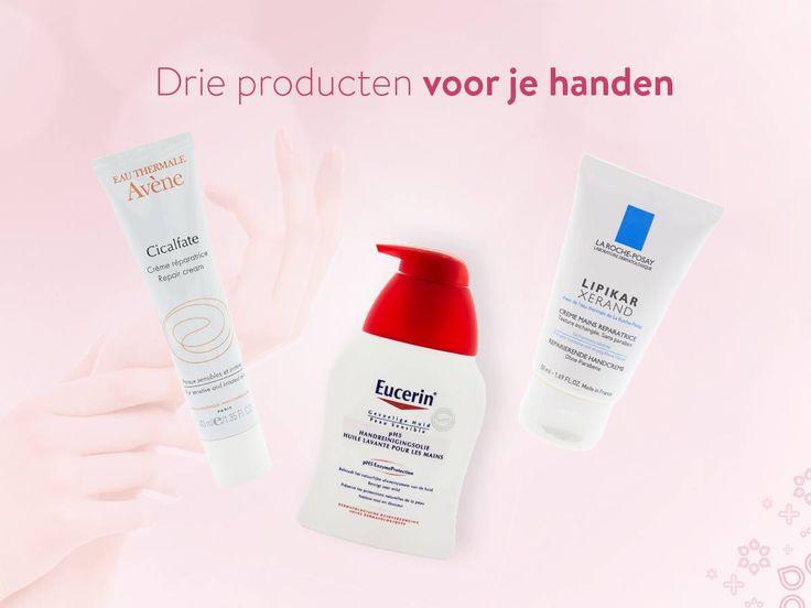 Krijg jij ook altijd droge handen met koud weer? Met deze producten houd jij je handen zacht en soepel: Avène Cicalfate, Eucerin pH5, La Roche-Posay Lipikar. shop ze bij www.zorgvoormijnhuid.nl