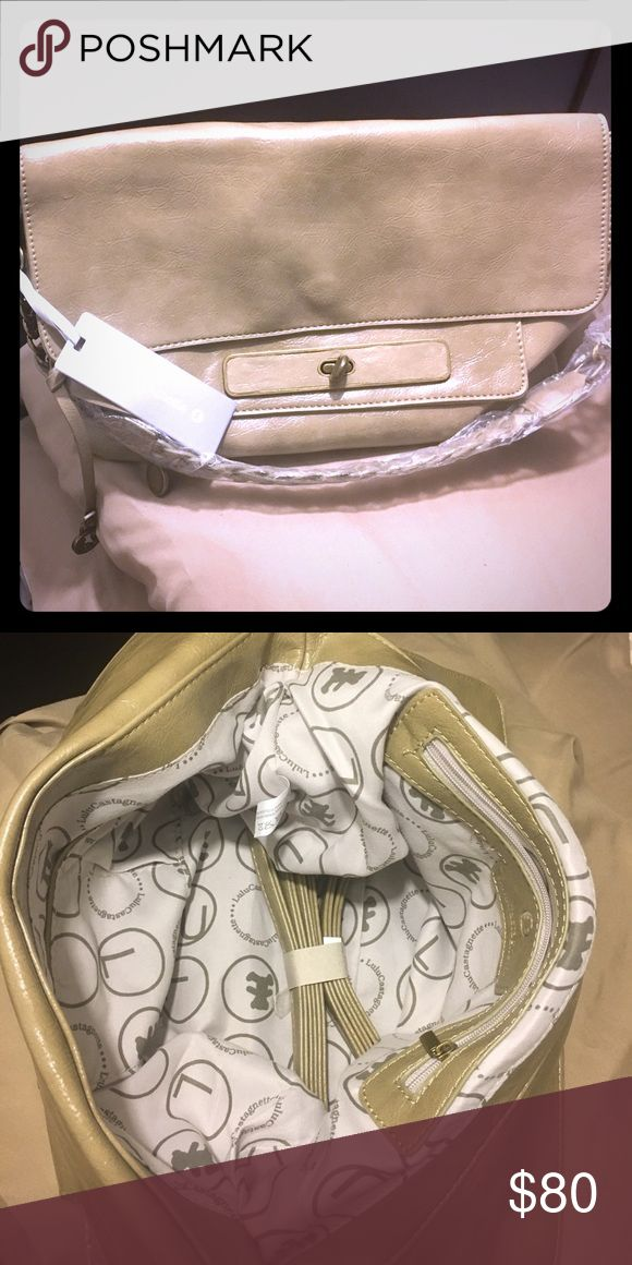 """Lulu Castagnette NWT Brand new Hobo bag. Tone : gray Approximately 7""""H x 5""""D x 15""""L x 10"""" Strap. lulu Bags Hobos"""