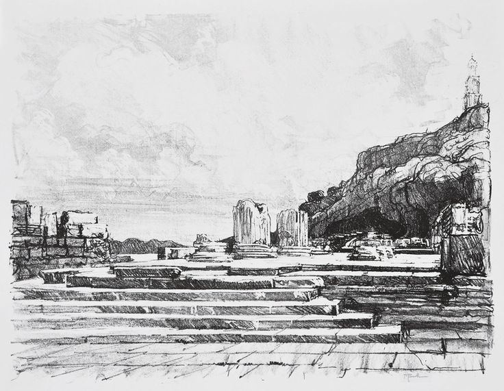 Eleusis: The Pavement of the Temple - Joseph Pennell (1857-1926) American