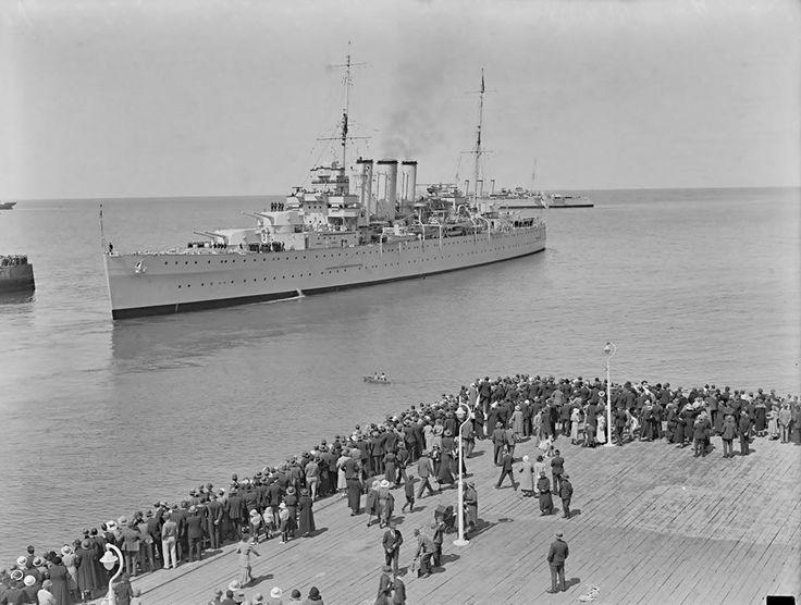 HMAS Australia..HMAS Canberra at Hobart c1930