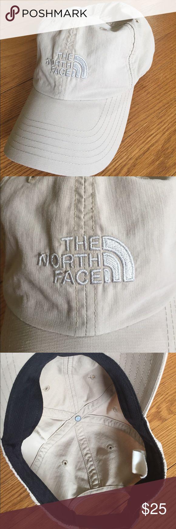 North Face nylon cap Khaki color nylon cap, adjustable buckle strap.  Size is S/M. The North Face Accessories Hats