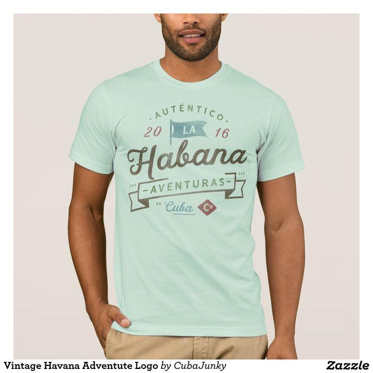 Vintage Havana Adventute Logo T-Shirt #cuba @zazzle