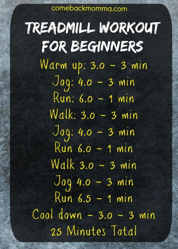 Treadmill Workout for Beginners. This post includes great tips for running for b…